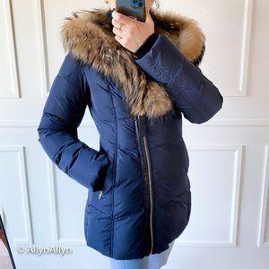 💯Mackage Down Fur Hood Coat - Small, Navy